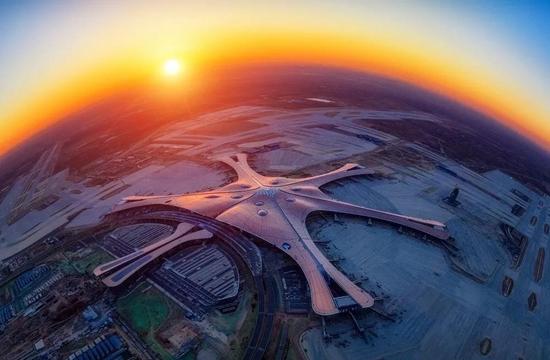北京大兴国际机场鸟瞰图。来源:首钢基金官网