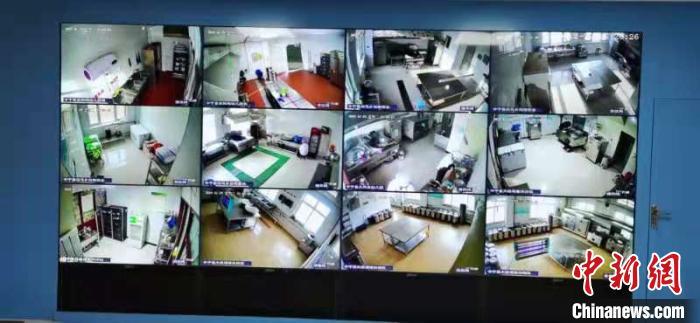 """宁夏校园食堂""""互联网+明厨亮灶""""智慧监管平台。宁夏市场监管厅供图"""
